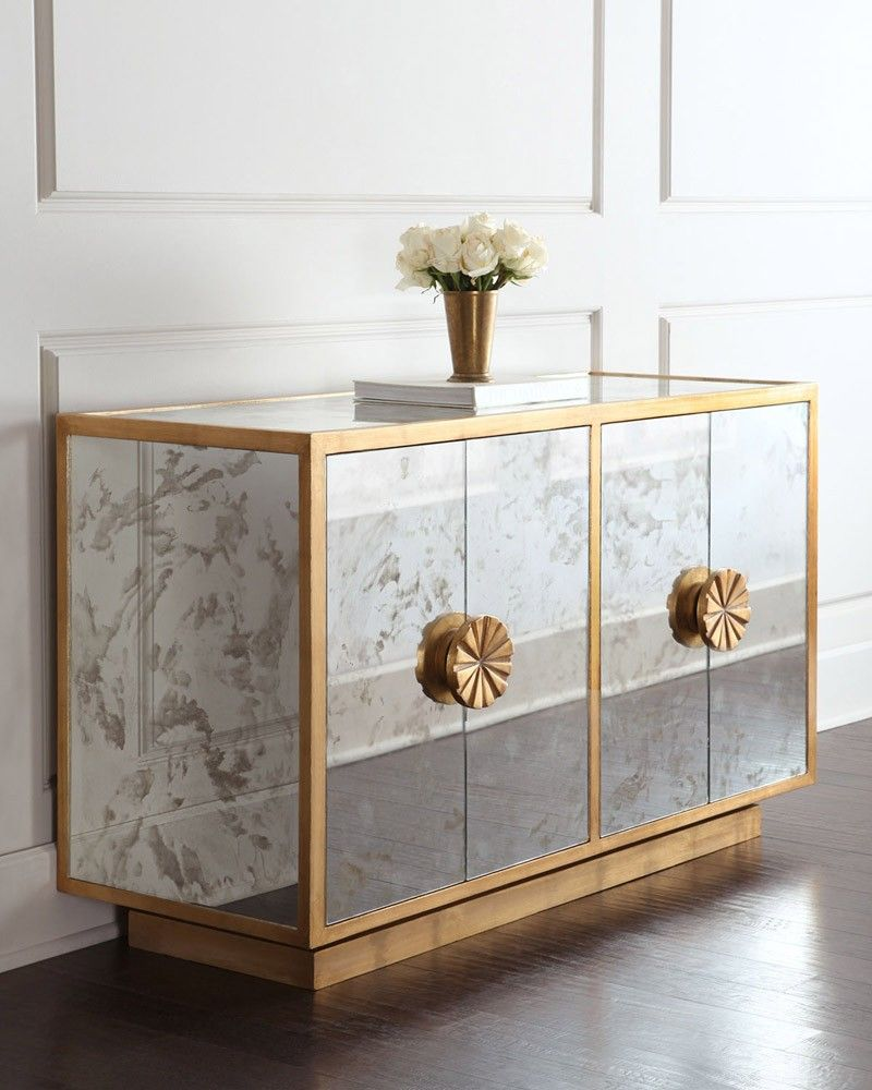 Mirrored buffets and cabinets for a brighter home decor for Contemporary sideboards for dining room