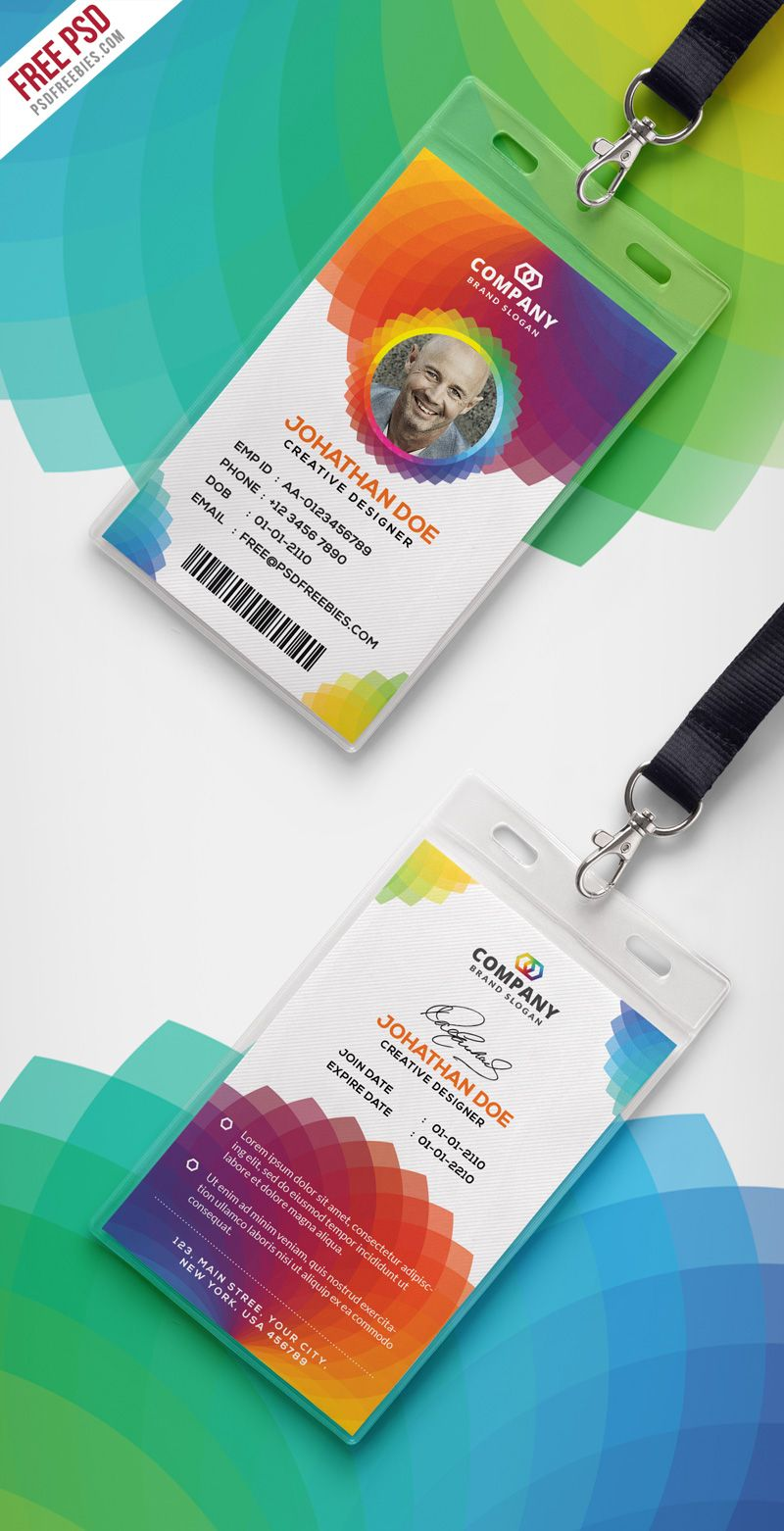 Corporate Branding Identity Card Free Psd  Corporate Offices Psd