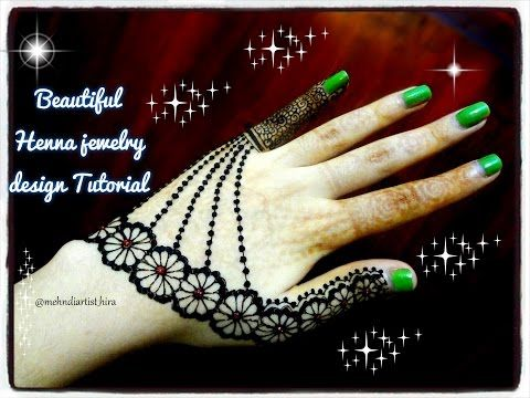 Mehndi For The Inspired Artist : Beautiful henna mehndi jewelry inspired design tutorial for eid