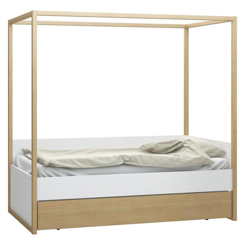 Vox 4you Canopy Bed With Underbed Storage Drawer 4014001 4014005 6015865 Bed With Underbed Single Bed Bed