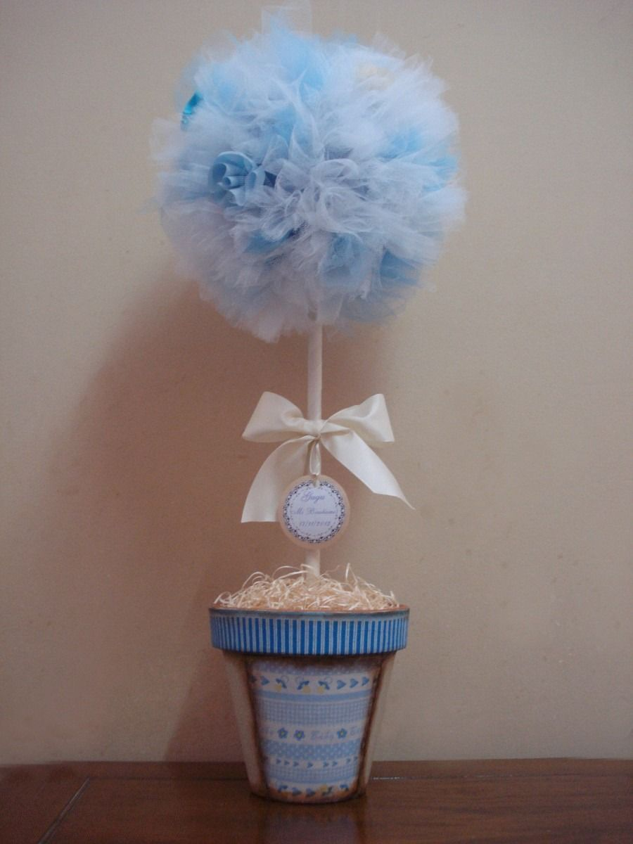 Topiario en tul para cumplea os 320 00 en mercadolibre for Ideas sobre decoracion