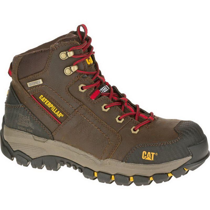a712a7e92a9 Cat Mens Streamline Ct Slip Resistant Composite Toe Work Boots Lace ...