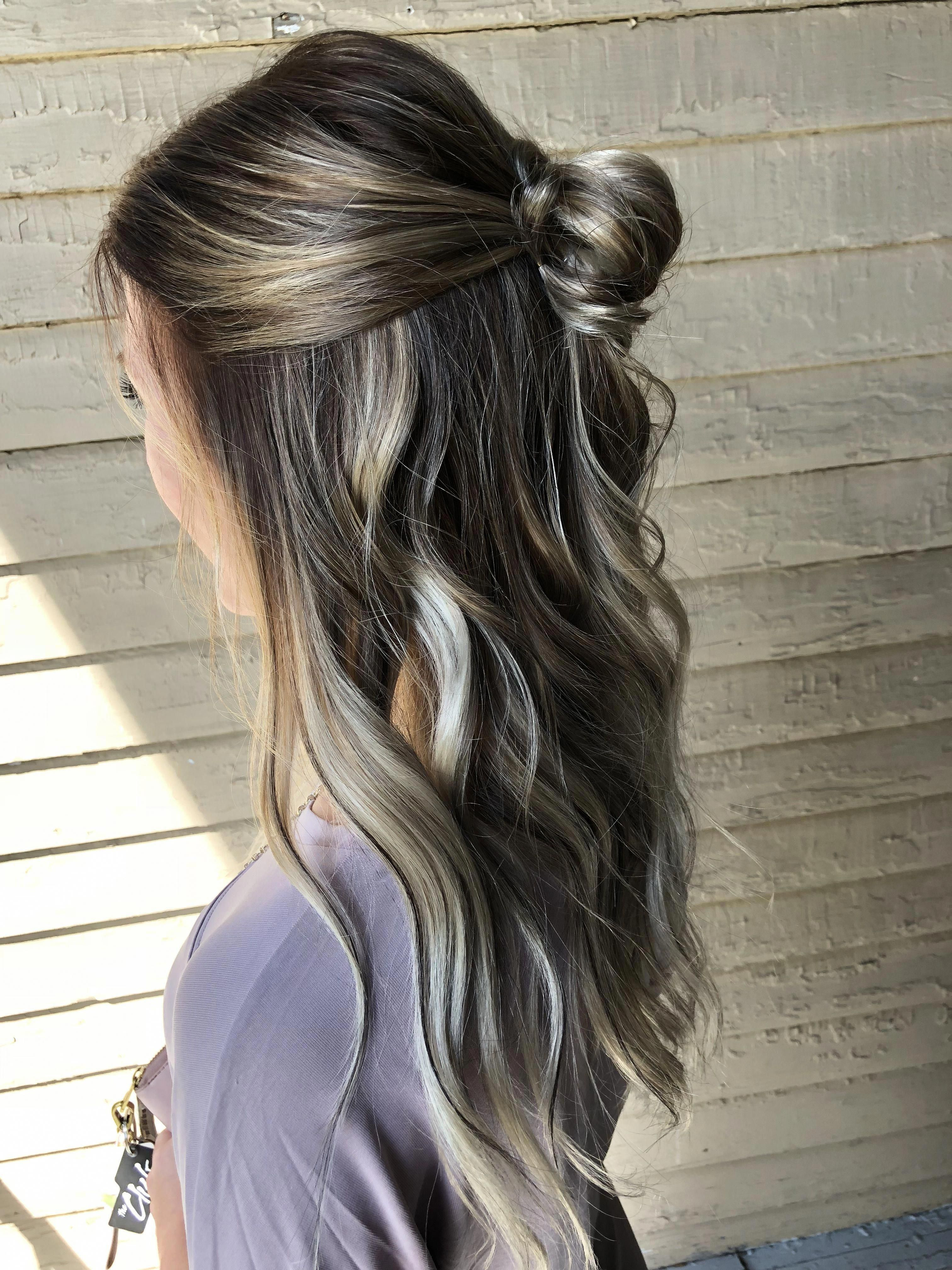Extended Root Fall Balayage Brownombrehair Haircolorbalayage Hair Styles Dark Hair Whoville Hair