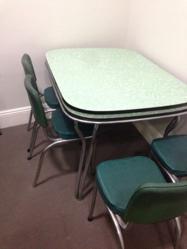 Retro Dining Room Laminex Table With 4 Chairs in Sydney, NSW  eBay
