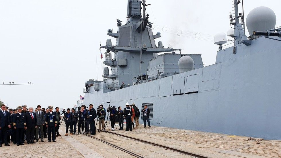 Indian And Russian Warships Have Arrived At Chinese Shores To Take Part In Celebrations And A Parade Marking The 70th Annive Navy Day Warship 70th Anniversary