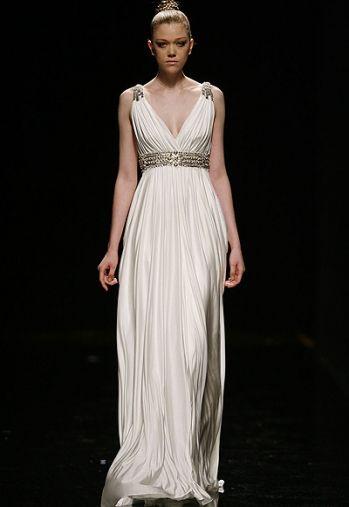 203ae3475 vestido nupcial de inspiración greco romana Rosa Clará