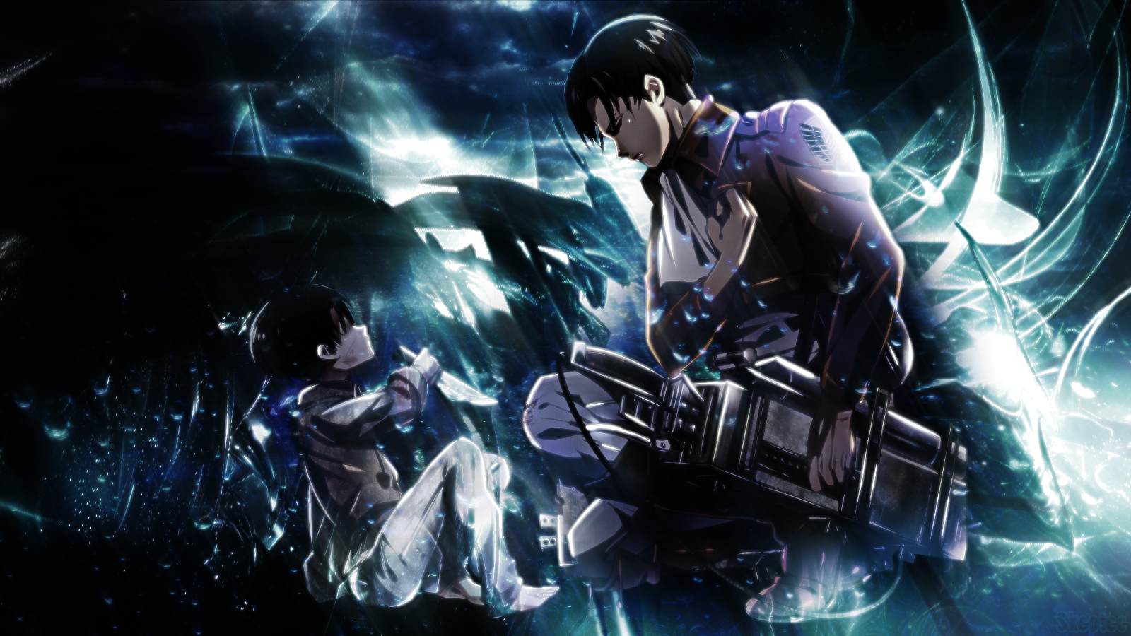 Levi Attack On Titan Rainfall Wallpaper Anime Wallpaper Anime Aot Wallpaper