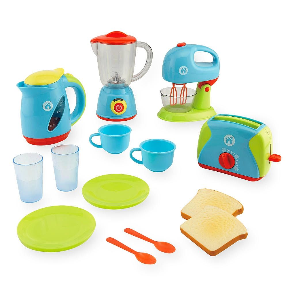 The Just Like Home Deluxe Appliance Set Functions Just Like The Real Thing Includes 2 Cups 2 Pl Kitchen Sets For Kids Toddler Kitchen Set Kids Play Kitchen