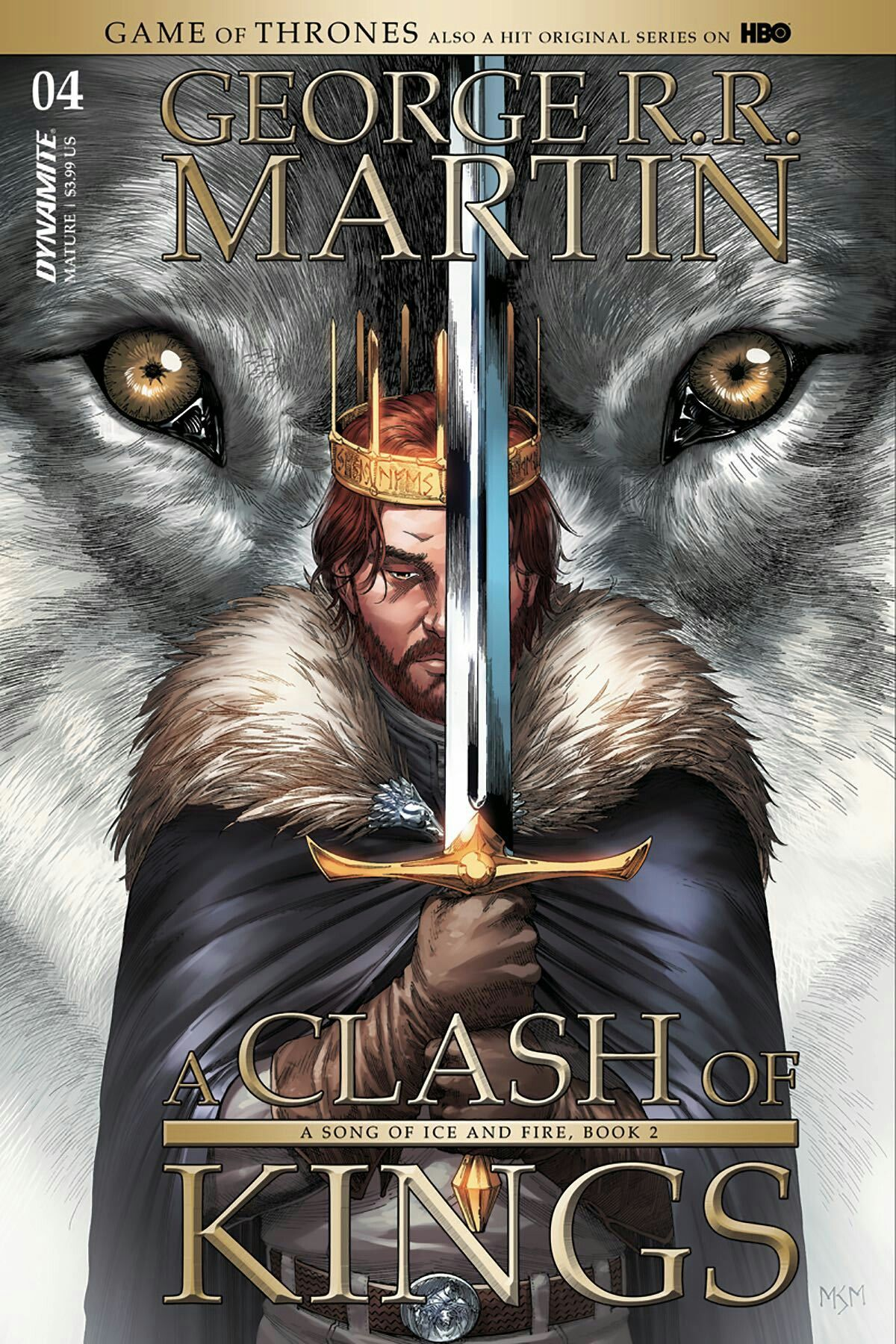 A Clash Of Kings Comic Book Issue 4 Cover Art By Mike S Miller