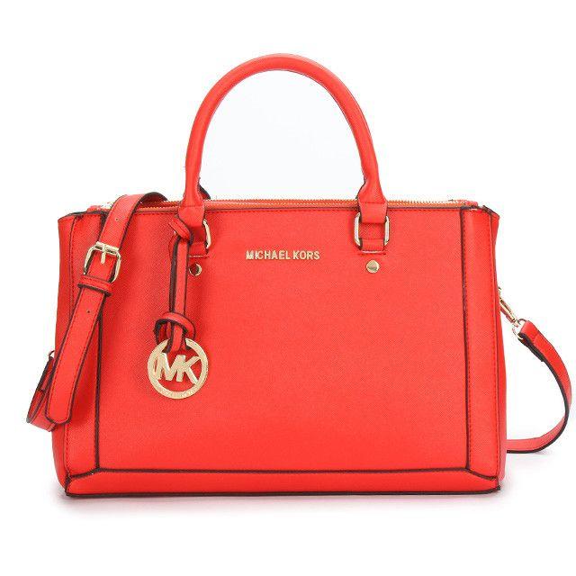 #HOT#MichaelKorsBag Michael Kors Logo Large Red Satchels Enjoys Great Popularity From The Fashion World!