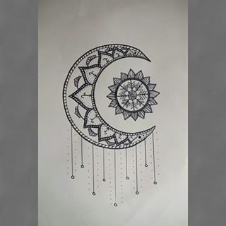 Mandala Moon Design Google Search Doodle Art Drawing Sun And