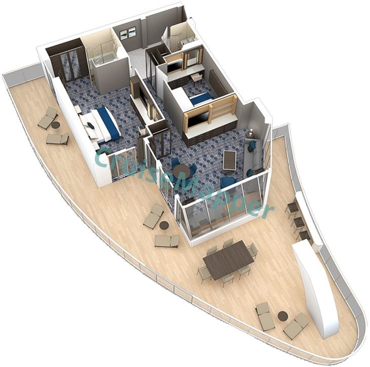 Harmony Of The Seas 2 Bedroom Aquatheater Suite Floor Plan Harmony Of The Seas Luxury Cruise Princess Cruise Lines