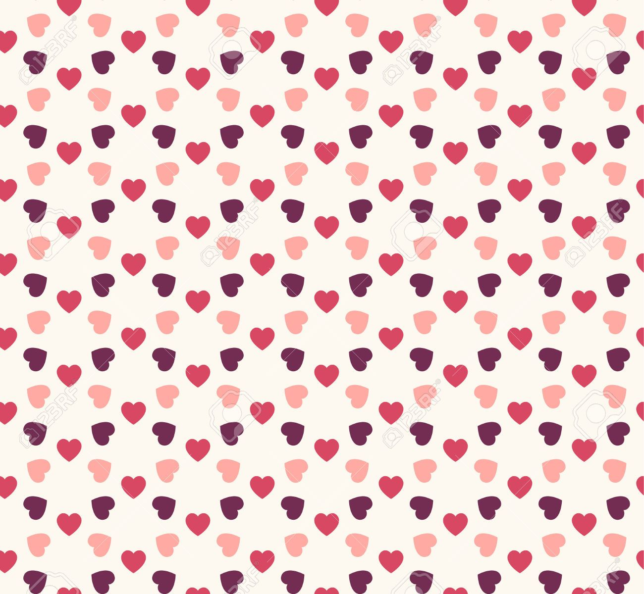 Seamless Geometric Hearts Pattern Can Be Used For Wallpaper