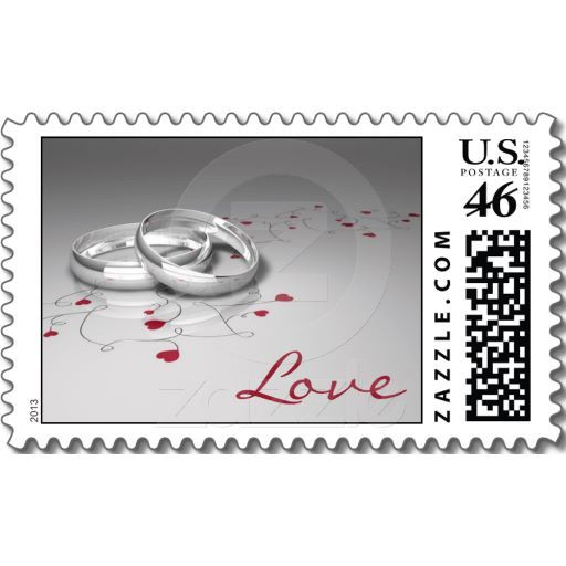 Postage Stamps For Your Wedding Invitations With A Fun Design. #wedding  #postagestamps #