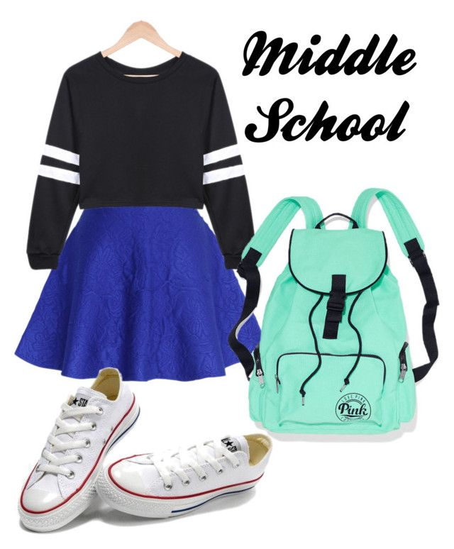 fc1f9d5f96b Middle School by emma4387 on Polyvore featuring Chicwish and Converse
