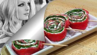 Girandole di Carpaccio alla Patty Pravo by Vittoria Fitz Williams / Patty Pravo Pinwheels Carpaccio