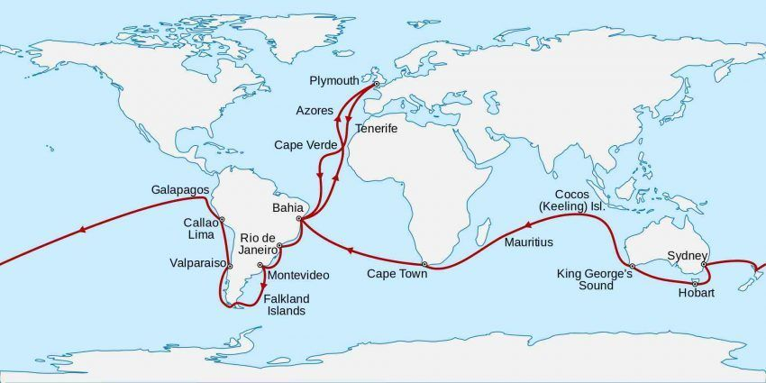 Charles Darwin And His Voyage Aboard H M S Beagle Charles