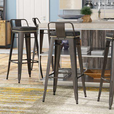 Trent Austin Design Capucine 31 Bar Stool Upholstery Vintage