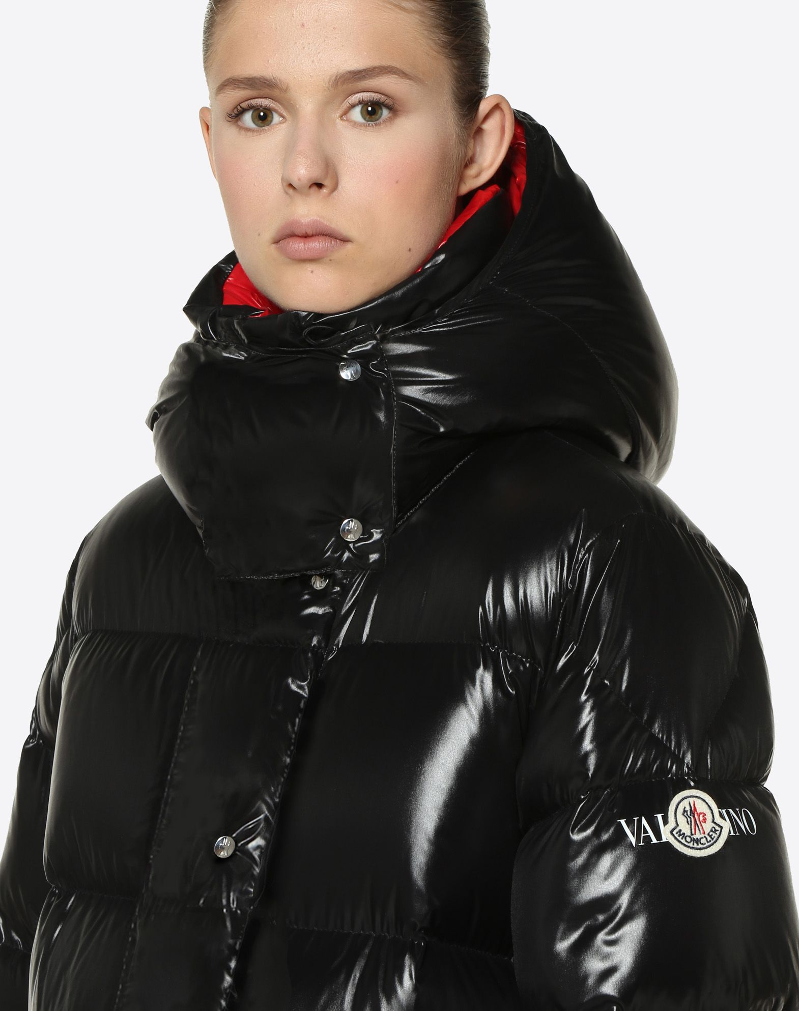 6ce28f15b MONCLER VLTN QUILTED DOWN COAT for Woman | Valentino Online Boutique ...
