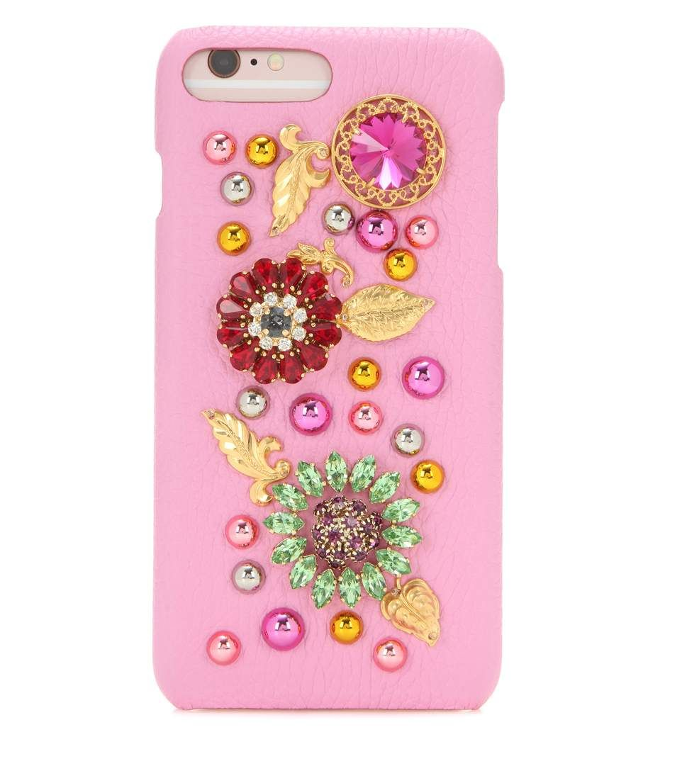 DOLCE & GABBANA Embellished leather iPhone 6 Plus case. #dolcegabbana #small leather goods