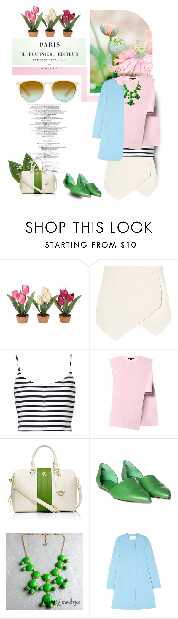 """""""Life, in Pastels"""" by pattykake ❤ liked on Polyvore featuring Trilogy, Topshop, Alexander Wang, Tory Burch, Jenni Kayne and Goat"""