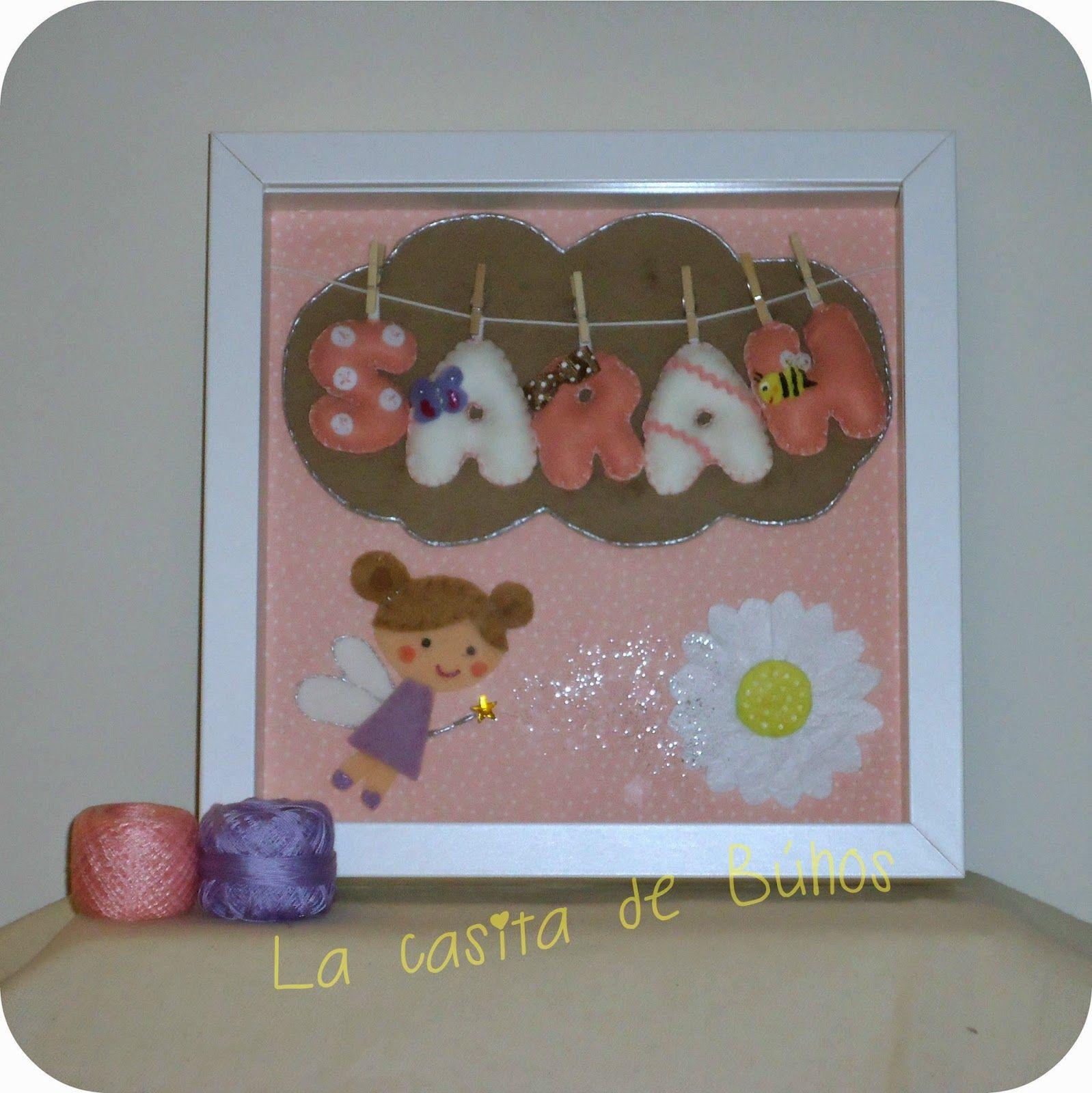 Cuadro en fieltro de hadas - Fairy felt frame | CUADROS | Pinterest ...