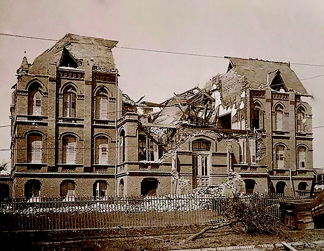 Bryan museum after the great storm of 1900 galveston