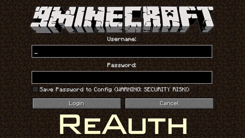 Reauth Mod 1 15 1 1 14 4 Download Miinecraft Org Minecraft Mods Mod Download