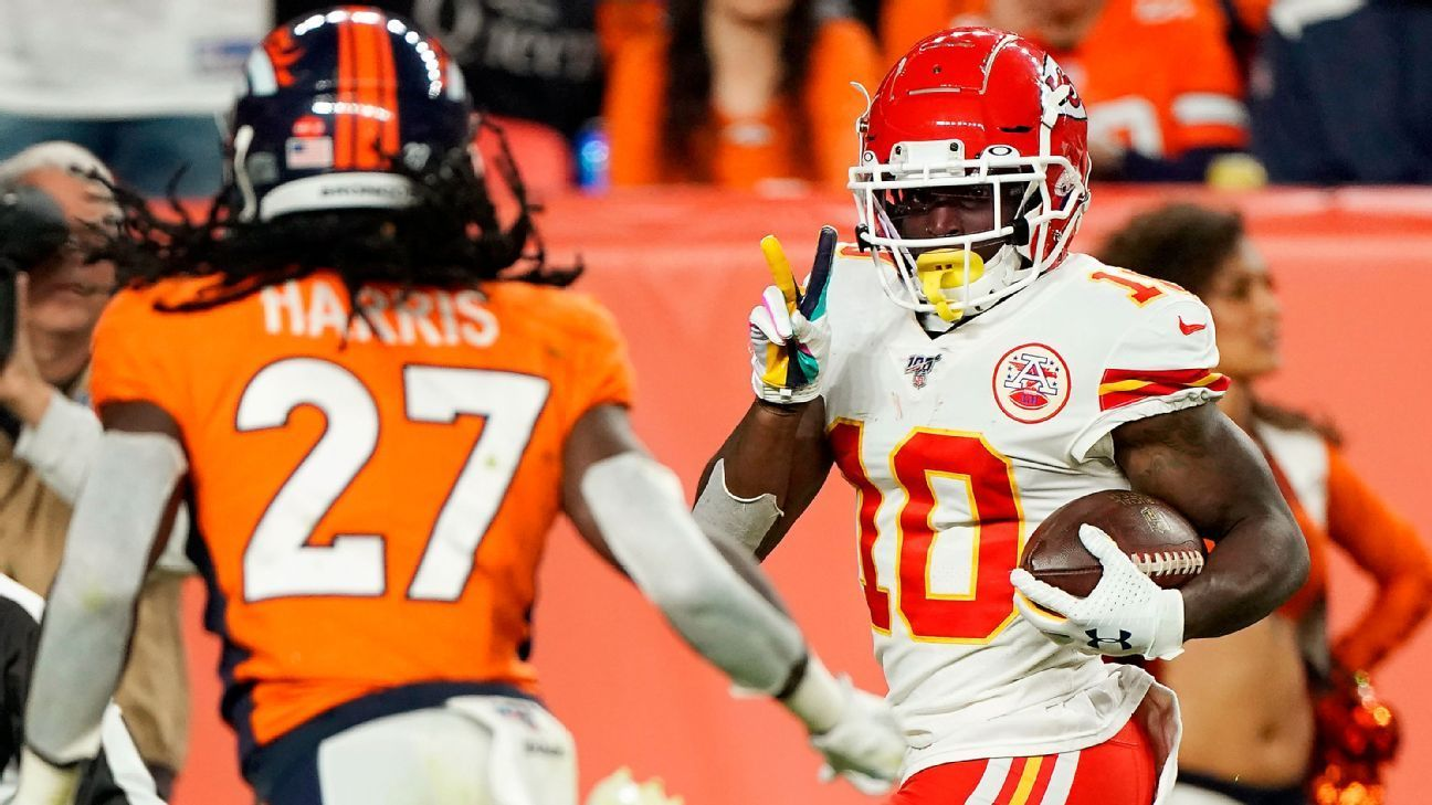 Chiefs Legion Of Zoom Has Clear Advantage Over Patriots Pass Catchers National Football League News National Football National Football League Football League