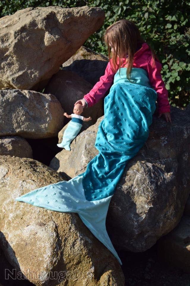 Meerjungfrauen-Decke, Meerjungfrau, Nähanleitung | Meerjungfrau ...