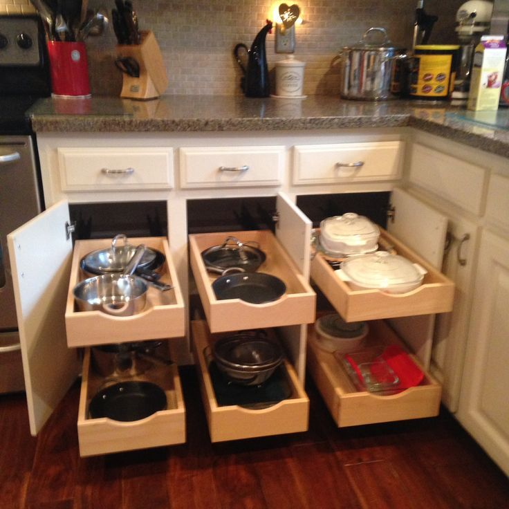 Pull Out Kitchen Shelving | Sliding Kitchen Shelves & Drawers | Kitchen Cabinet Storage Solutions