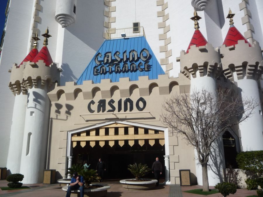 Entrance To The Casino At The Excalibur Hotel And Casino On The