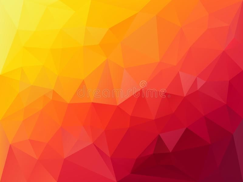 Vector Polygon Background With A Triangle Pattern In Vibrant Hoz