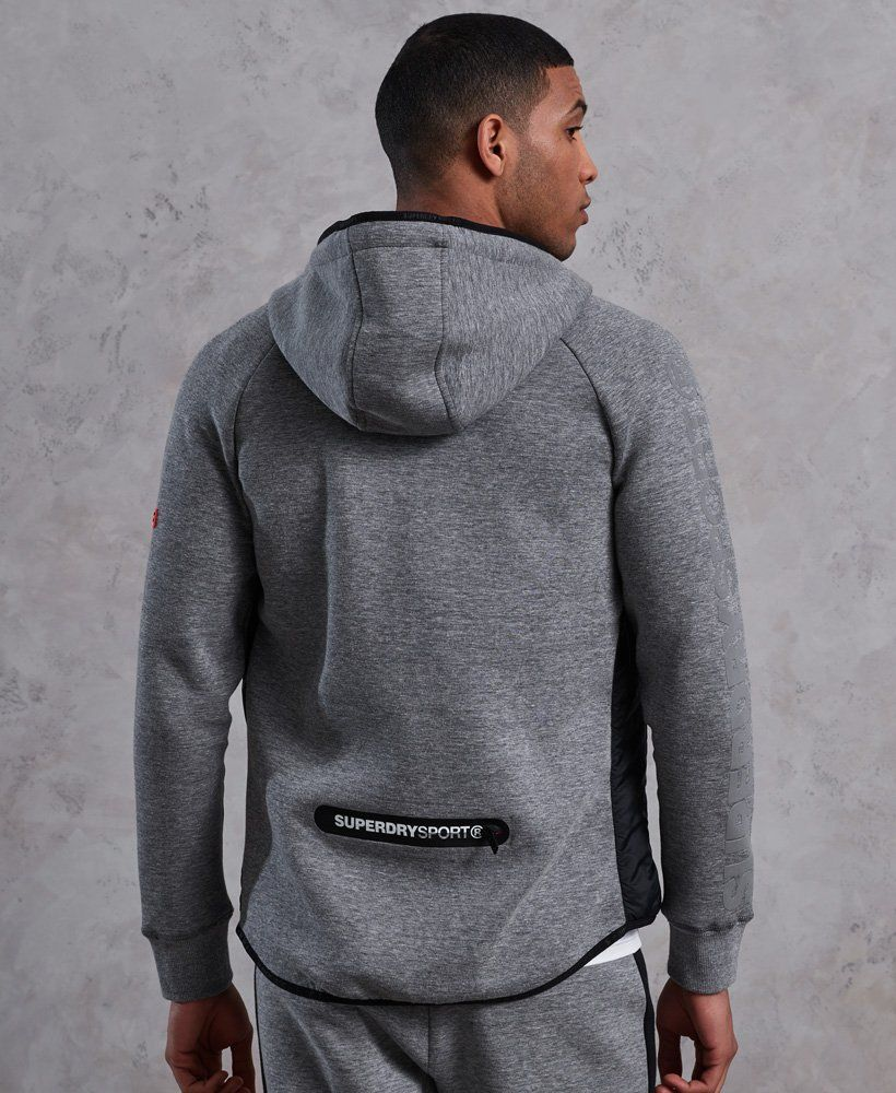 Superdry Sport Palestra Tech Stretch ZIPHOOD CARBON BLACK SMALL