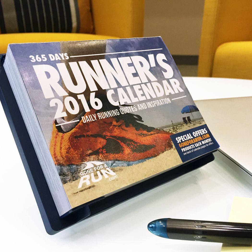 Runner's 2016 Daily Desk Calendar | I need...or want ...