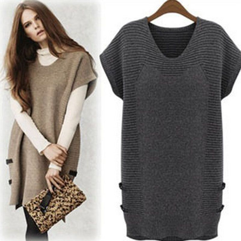 Printemps pull Casual XXXL XXXXL robe tricot grande taille Winter Fashion  brève…  reallycute sweater tunic dress ... 85a050090cfb