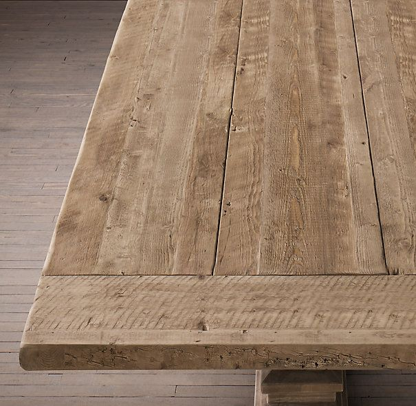 Unfinished Rustic Chunky Wood Dining Room Table