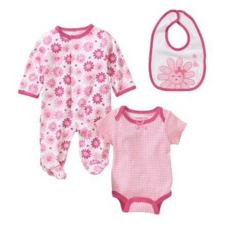 db53d9a90c24 Nannette Newborn Baby Girl Knit Coverall
