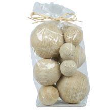 Decorative Balls For Bowls Australia Bowl Filler Pack Jute Rope Balls  Spacesmedieval Yet Modern