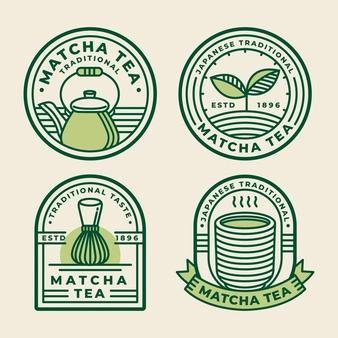 Download Matcha Tea Badges Concept for free