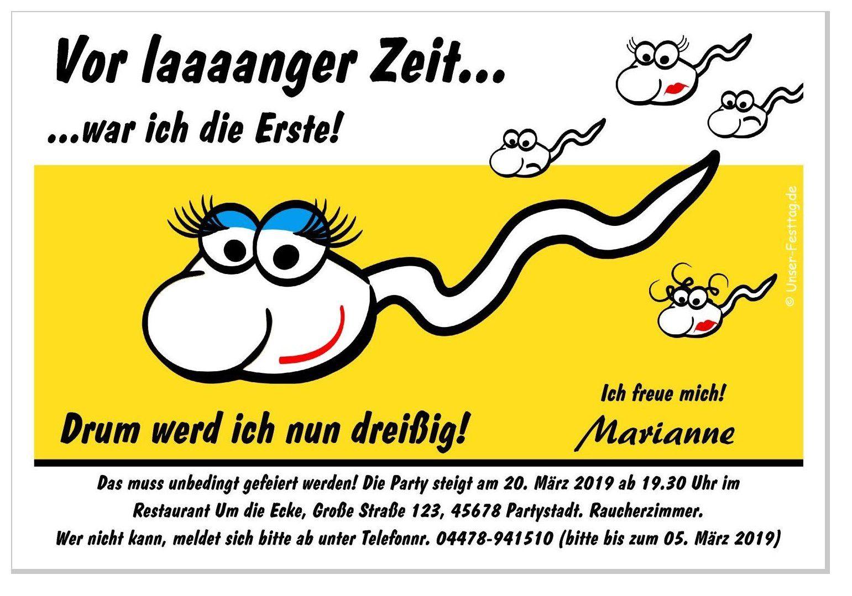 Einladungskarte Fur Frauen Spermi Variante 3 Lustige