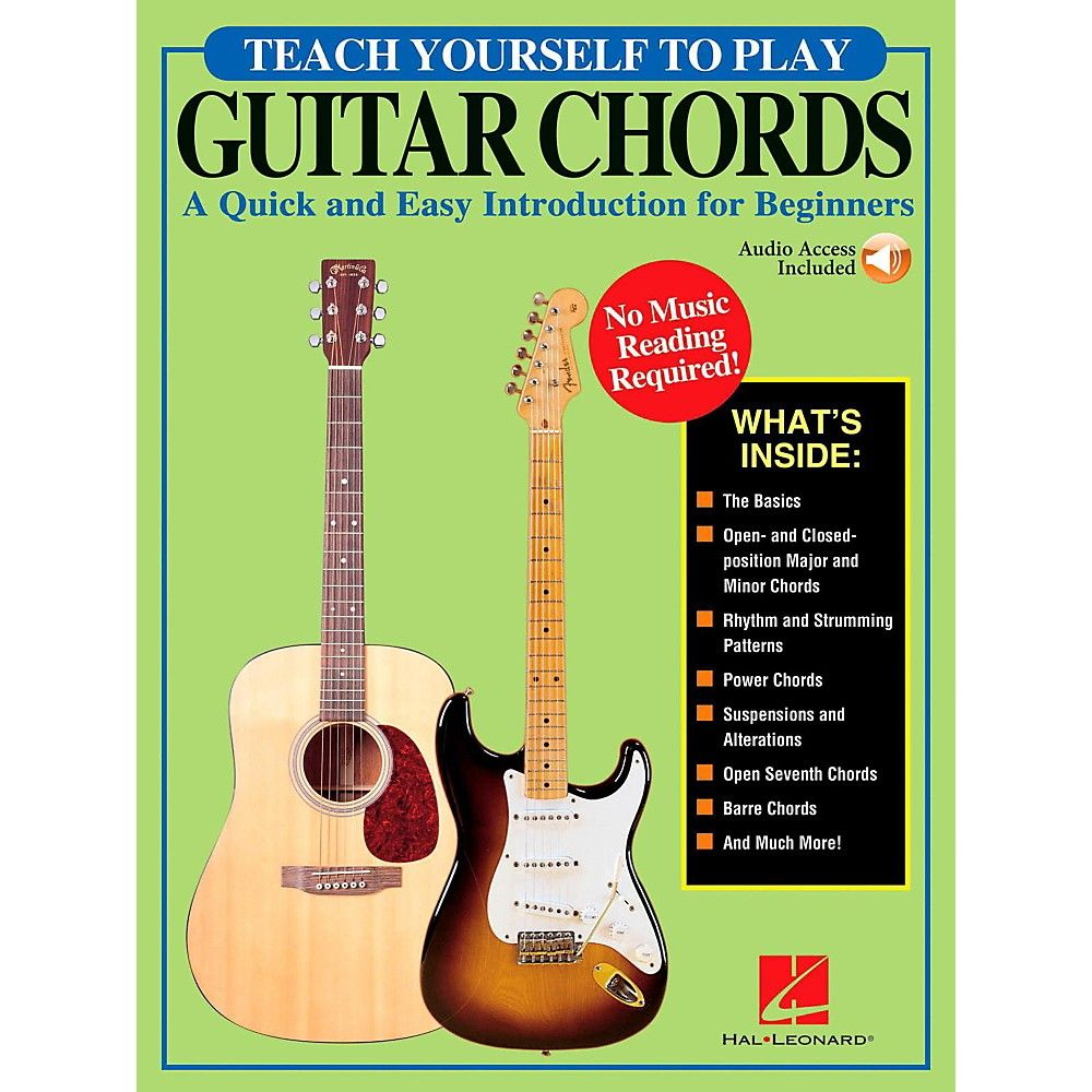 Hal Leonard Teach Yourself To Play Guitar Chords Book Online Audio Play Guitar Chords Guitar Chords Guitar Chord Book