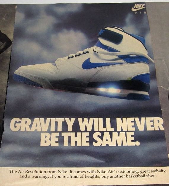 0f6849715ebb2 This ad for the Nike-Air shoe has a headline that reads