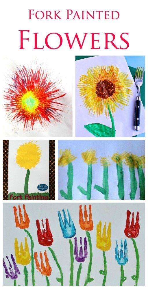 22 Fork Painting Ideas For Kids Spring Crafts For Kids Spring Crafts Painting For Kids