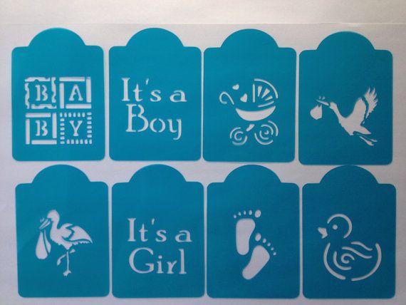 Baby Shower Stencils Set Of 6 Designs NW02