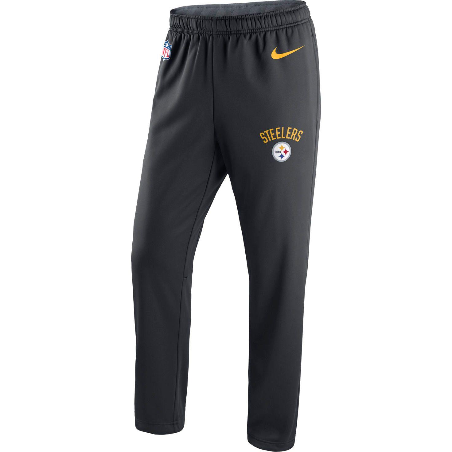 06ac204c Pittsburgh Steelers Nike Circuit Sideline Performance Pants - Black ...