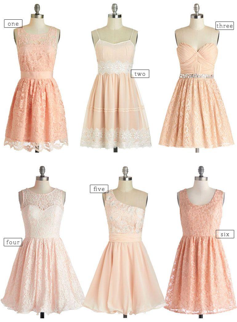 A peachy affair vintage mismatched bridesmaid dresses fettii a peachy affair vintage mismatched bridesmaid dresses fettii ombrellifo Images