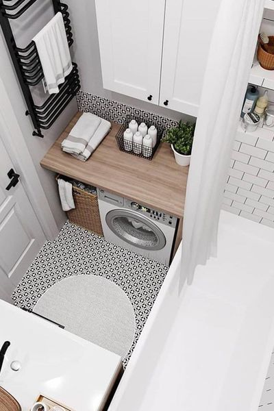 Photo of Space saving: small bathroom on Pinterest