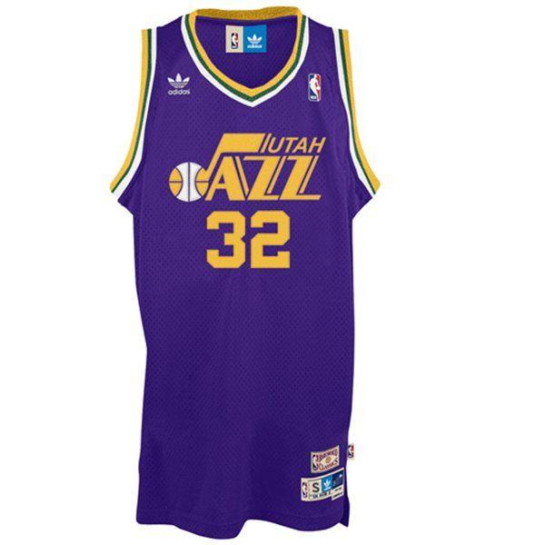info for 93b29 426b4 Karl Malone Utah Jazz Purple Road Throwback NBA Jersey ...