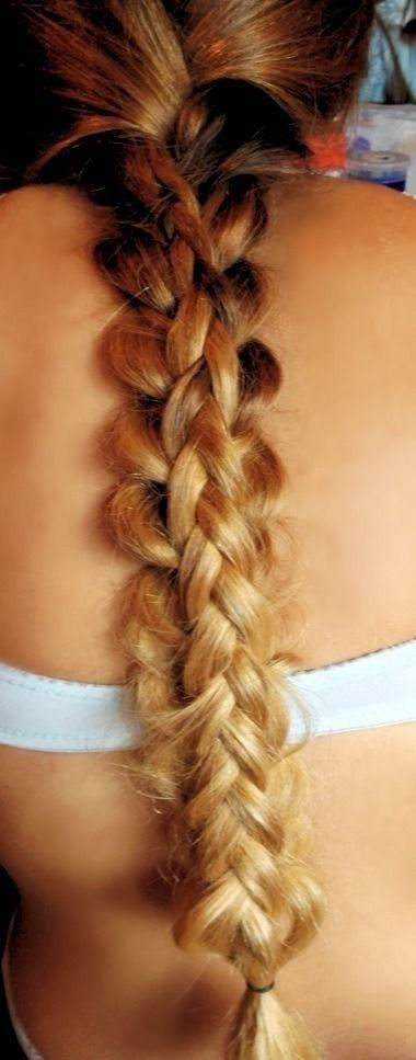 Ombre Stacked Braid - Hairstyles and Beauty Tips